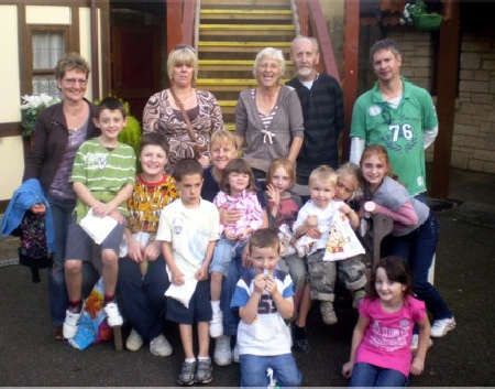 Grandparents & Grandchildren enjoying a day out.